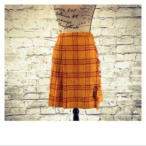 Sweet Vintage Orange Wool Skirt